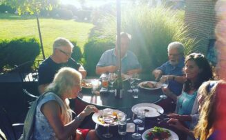 Our patio is a perfect gathering place