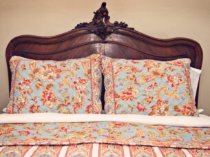 Rooms are decorated with antique furniture