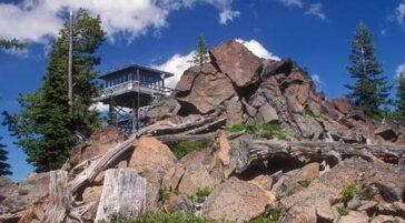 Mt Hood fire lookout cabin