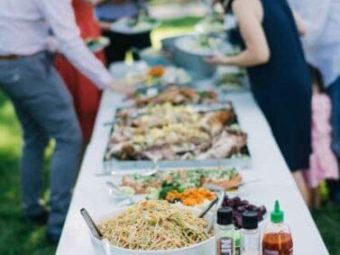Outdoor garden catering, Balch Hotel