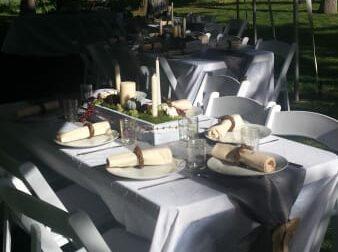 outdoor Wedding tent, Balch Hotel